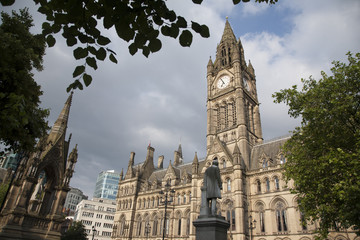 Town Hall and Albert Memorial by Noble, Albert Square, Mancheste