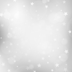 Christmas silver blurred background with stars
