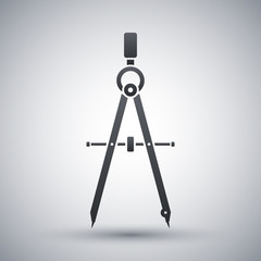 Vector compass tool icon