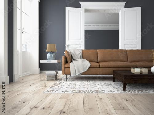 Wohnzimmer und schlafzimmer in einer altbau wohnung - Wohnzimmer altbau ...