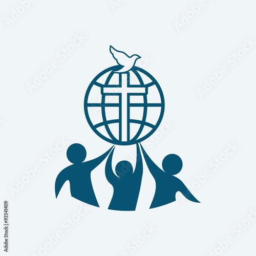 Church logo dove fellowship people silhouettes cross globe church logo dove fellowship people silhouettes cross globe icon thecheapjerseys Gallery