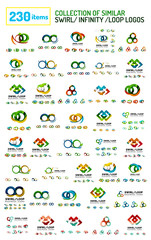Huge mega collection of swirl, loop, infinity shaped logos and