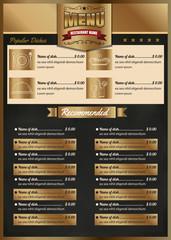 Restaurant Food Menu Design vector format eps10