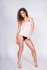 Woman Wearing Tank Top and Panties