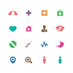 Medical icons universal set