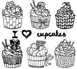 Cupcakes Icon Set