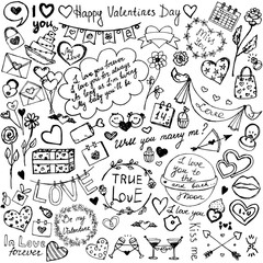 Valentine's Day Sketch Icons