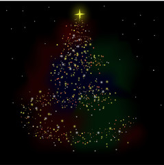 Christmas tree holiday background abstraction