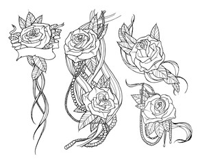 rose tattoo set