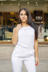 Oriental style. Sensual arabic woman model