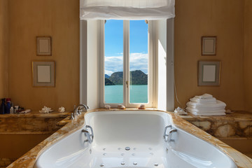 beautiful bathroom with jacuzzi