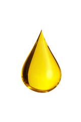Fototapeta oil drop isolate on white background obraz