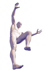 3d rendered illustration of a male jumping