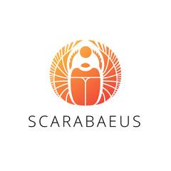 Vector gold scarab logo