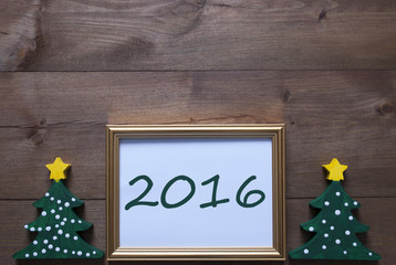 Picture Frame With Christmas Tree And 2016