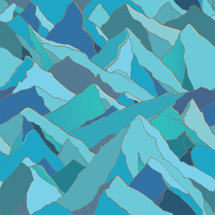 seamless pattern with mountains
