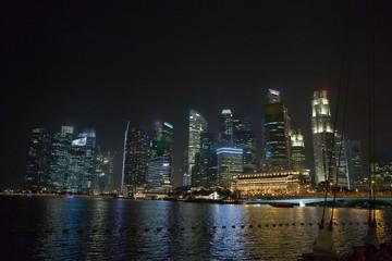Singapore center at night