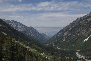 Salt Lake Valley from Little Cottonwood Canyon 2015-10-26