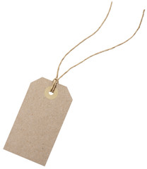 Empty shopping tag template
