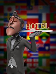 First Class Hotel Service Illustration