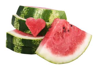 watermelon and slice