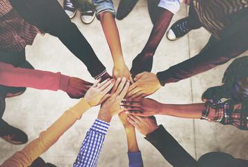 Hands Holding Teamwork Cooperation Togetherness Concept