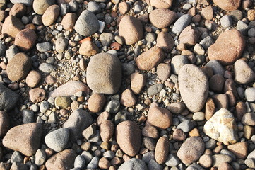 Small stones and pebbles background photo