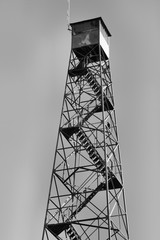 Lookout Tower in Black and White