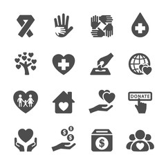 charity and donation icon set 5, vector eps10