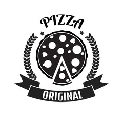 Pizza delivery logo. Fast delivery logo. Pizza logo