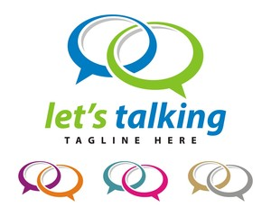 social media talking logo