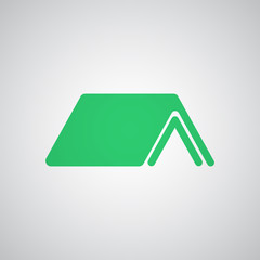 Flat green Shelter icon