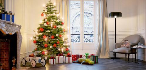 Weihnachten mit der Familie in Altbau Apartment - christmas in old apartment with snow