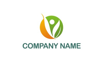 vegetarian abstract company logo.