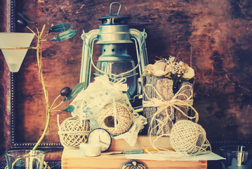 Vintage Things with Memories about Wedding in Still Life
