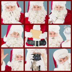 Composite image of portrait of santa keeping a secret