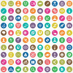science 100 icons universal set