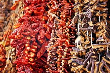 Pepper on grand bazaar in Istanbul