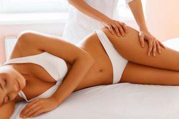 Body care. Spa body massage treatment. Woman at spa Salon