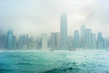 Türaufkleber Hongkong Rainy Hong Kong