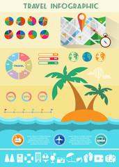 Colorful Travel Infographics Illustration