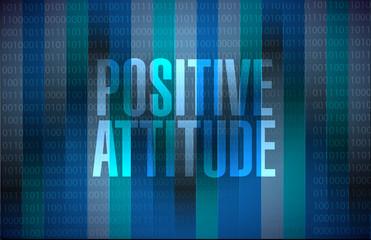Positive attitude binary background sign concept