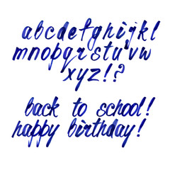Handwritten Alphabet with Small Letters