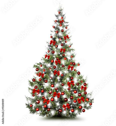 bunt geschm ckter weihnachtsbaum stockfotos und lizenzfreie bilder auf bild 93618409. Black Bedroom Furniture Sets. Home Design Ideas