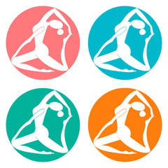 Fitness sport club logo vector illustration