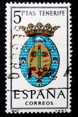 Timbre d'Espagne de 1965 - Blason des armes des capitales provinciales espagnole