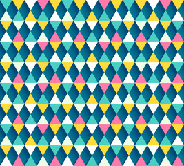 Argyle seamless pattern, four color options. Vector illustration