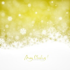 Merry Christmas and Happy New Year 2016 ! Gold version with snowflakes