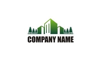 green building cityscape company logo