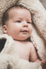 Baby swaddle with towel
